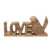Woodland Imports Love Bird Letter Block