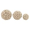 Woodland Imports 3 Piece Decorative Rope Ball Set