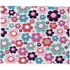DENY Designs Ali Benyon Indigo Flowers Fleece Throw Blanket