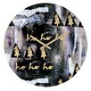 DENY Designs Cayenablanca A White Christmas Wall Clock