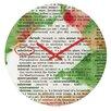 DENY Designs Susanne Kasielke Mistletoe Dictionary Art Wall Clock