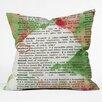 DENY Designs Susanne Kasielke Mistletoe Dictionary Art Throw Pillow