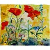 DENY Designs Ginette Fine Art Poppies Provence Throw Blanket