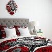 DENY Designs Julia Da Rocha Raven Rose Duvet Cover