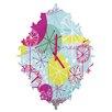DENY Designs Rachael Taylor Snowflake Stems Wall Clock