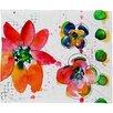 DENY Designs Summer in Watercolor Fleece by Laura Trevey Throw Blanket