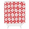 DENY Designs Social Proper Holiday Argyle Shower Curtain