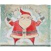DENY Designs Cori Dantini Joyous Holiday Wishes Fleece Polyester Throw Blanket
