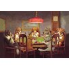 Buyenlarge 'Passing the Ace Under the Table (Dog Poker)' by C.M. Coolidge Painting Print
