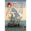 Buyenlarge 'Portrait of an English Ship' Painting Print