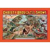 Buyenlarge Christy Bros. 5 Ring Wild Animal Shows Vintage Advertisement