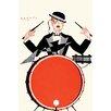 Buyenlarge 'Deco Drummer' by Hertze Graphic Art