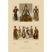 Buyenlarge A Variety of Asian Costumes by Auguste Racinet Graphic Art