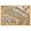 Buyenlarge Map of Italy by A. Ortelius Graphic Art