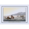 Buyenlarge Turtle Fishing In the Water by J.H. Clark Painting Print