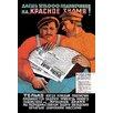 Buyenlarge Red Banner by V. Okhlopkov Vintage Advertisement