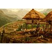 Buyenlarge 'Philippine Village with Natives and Grass Guts on Stilts' by F.W. Kuhnert Painting Print