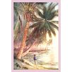Buyenlarge Fishing Under the Coconut Trees Painting Print