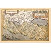 Buyenlarge 'Map of Northern Italy' by A. Ortelius Graphic Art