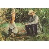 Buyenlarge 'Eugène Manet and His Daughter in the Garden' by Berthe Morisot Painting Print