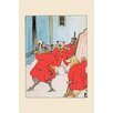 Buyenlarge 'New Coats for the Pigs' by Frances Beem Painting Print
