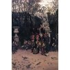 Buyenlarge 'The Return March in The Tuileries' by James Tissot Painting Print