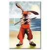 Buyenlarge Rabbit Pirate Graphic Art on Wrapped Canvas