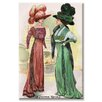 Buyenlarge Le Costume Royals Ladies in Ostrich Feathered Hats Graphic Art on Wrapped Canvas