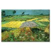 Buyenlarge 'The Plains at Auvers' Painting Print on Wrapped Canvas