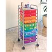 Seville Classics 10 Drawer Organizer Cart