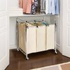 3 Bag Laundry Sorter Cart