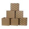Sprout Leaf Pattern Decorative Storage Box (Set of 6)