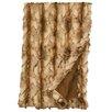 Wooded River Brandy Fox Fur Throw
