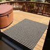 Mats Inc. Brush Stripes All Weather Black/Tan Outdoor Area Rug