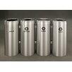 Glaro, Inc. RecyclePro Value Series 164-Gal Quadruple Unit Multi Compartment Recycling Bin
