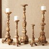Tozai Globetrotter Renaissance Candlestick with Gold Accents (Set of 5)