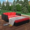 Modway Fence 4 Piece Outdoor Patio Daybed with Cushions