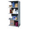 "Hallowell Hi-Tech Medium-Duty Closed Type 87"" H 5 Shelf Shelving Unit Add-on"