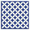 "Oscar & Izzy Folksy Love 6"" x 6"" Glossy  Decorative Tile in Needle Point Blue"