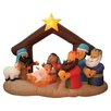 BZB Goods Christmas Inflatable Nativity Scene Under Stable Decoration