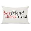 One Bella Casa Boyfriend Shmoyfriend Lumbar Throw Pillow