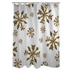 One Bella Casa Snowflake Shower Curtain