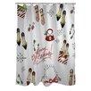 One Bella Casa Merry Glitzmas Shower Curtain