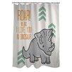 One Bella Casa Roar Means I Love You Shower Curtain