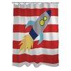 One Bella Casa Rocketship Shower Curtain