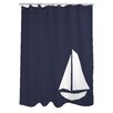 One Bella Casa Vintage Sailboat Shower Curtain