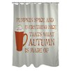 One Bella Casa Pumpkin Spice And Everything Nice Shower Curtain