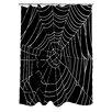 One Bella Casa All Over Spider Webs Shower Curtain