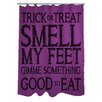 One Bella Casa Trick or Treat Smell My Feet Shower Curtain