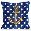 One Bella Casa Anchor Dots Throw Pillow